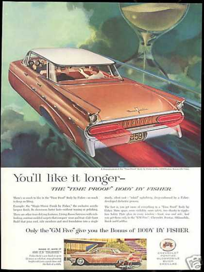 Pontiac Bonneville 4 Dr Body by Fisher Vintage (1959)