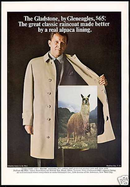 Llama Photo Gleneagles Fashion RainCoat (1968)