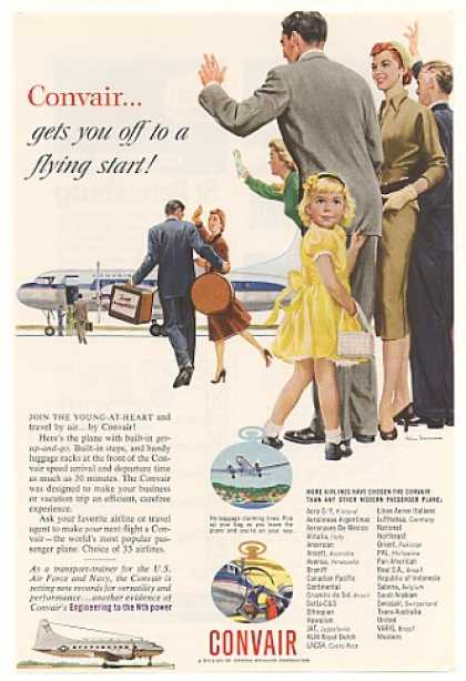 Convair Airplane Newlyweds Off to Flying Start (1955)