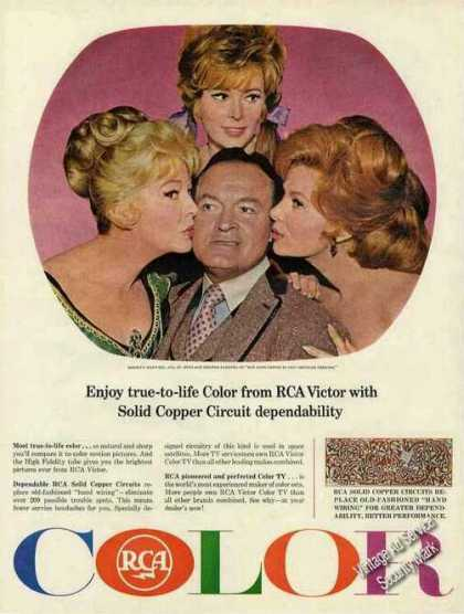Bob Hope Photo Collectible Rca Tv (1965)