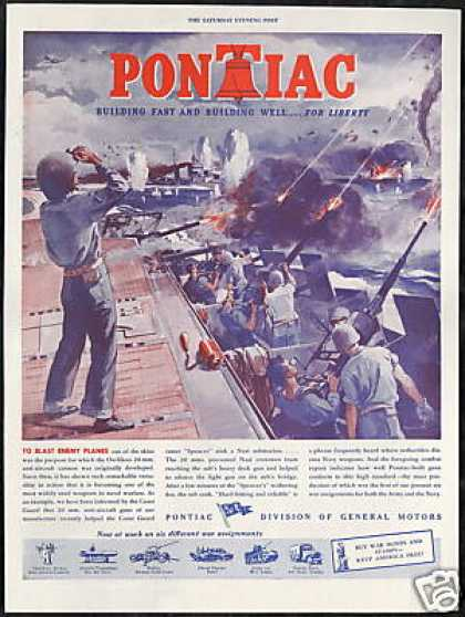 WWII Anti Aircraft Guns Coast Guard Pontiac (1943)