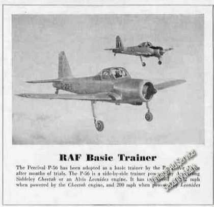 Percival P-56 Raf Basic Trainer Photo (1951)