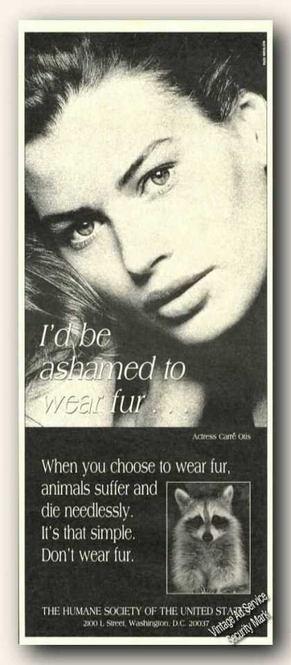Carre Otis Photo I'd Be Ashamed To Wear Fur (1989)