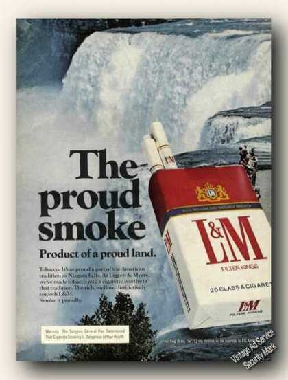 Niagara Falls L&m Proud American Advertising (1975)