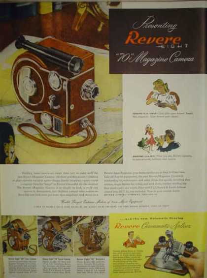 Revere 70 Magazine Camera Curvamatic Splicer 8mm Movie Equipment (1947)