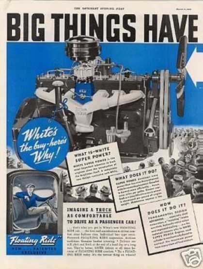 White Truck Ad 2 Page (1939)