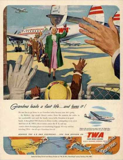 "Twa ""Grandma Leads a Fast Life"" Constellation (1951)"