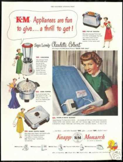 Claudette Colbert Photo Knapp Appliance (1949)