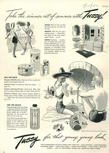 Lehn & Fink Products Corp.'s Tussy Cosmetics – Take the simmer out of summer with Tussy (1942)