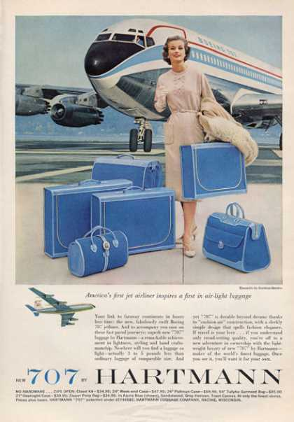 Boeing 707 Hartman Fashion Luggage (1959)