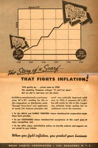 Brian Fabrics Corporation's Anti-Inflation – The Story of a Scarf... That Fights Inflation (1943)
