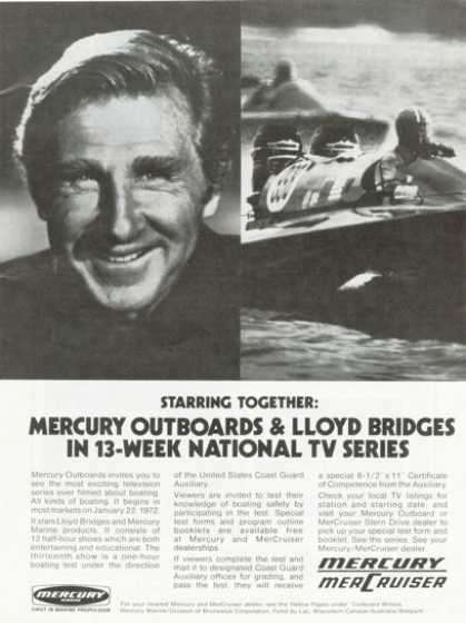 Mercury Mercruiser Outboard Lloyd Bridges (1972)