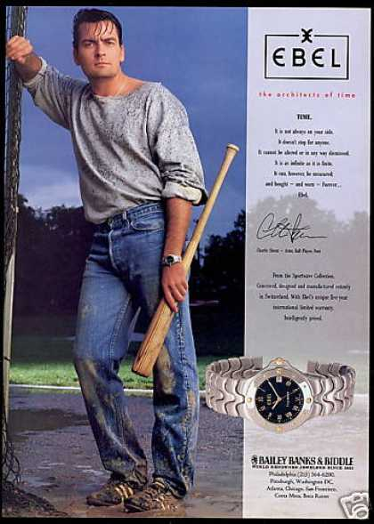 Charlie Sheen Photo Ebel Watch (1994)