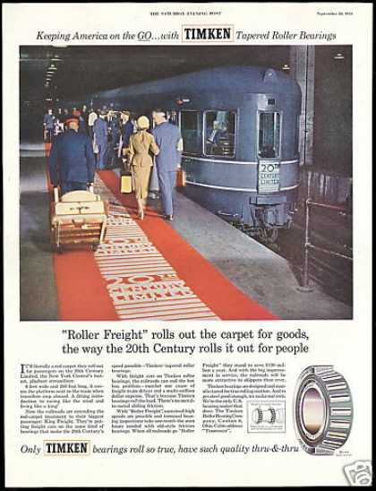 New York Central 20th Limited Train Timken NY (1954)