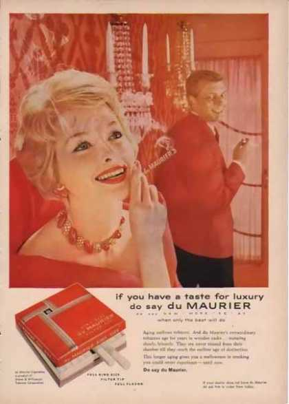 Du Maurier Cigarettes – Do say du Maurier – Sold (1958)