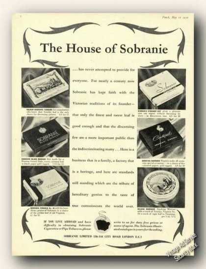 House of Sobranie Antique Uk Tobacco (1956)