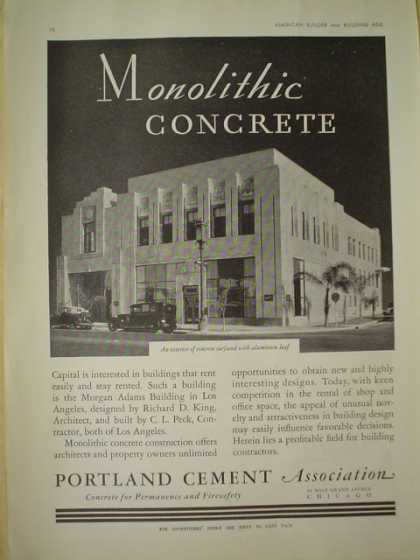 Portland Cement Association. Monolithic Concrete. Morgan Adams Building Los Angeles (1930)