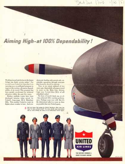 United Air Lines – Aiming High – at 100% Dependability (1951)