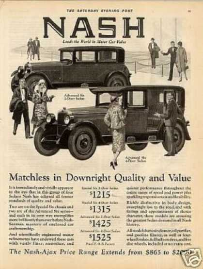 Nash Advanced Six 2 & 4-door Sedans (1926)