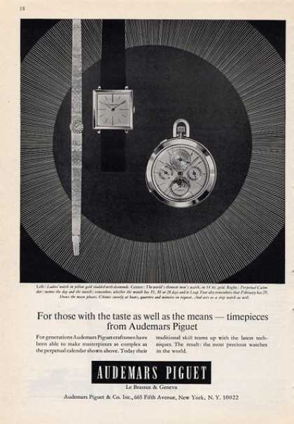 Audemars Piguet Timepieces Watch (1965)