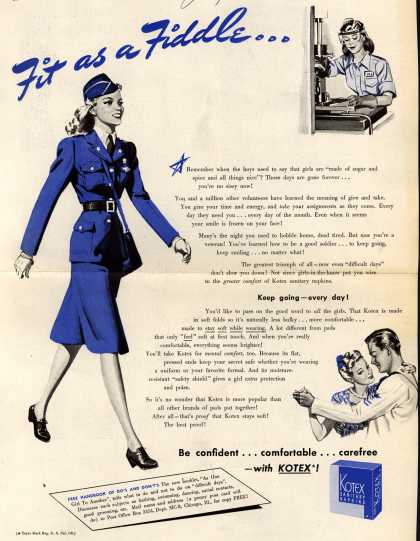 Kotex Company's Sanitary Napkins – Fit as a Fiddle... (1942)