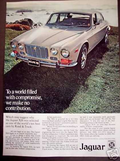 Jaguar Xj6 Jag Classic Car Photo Ad 72ca (1972)