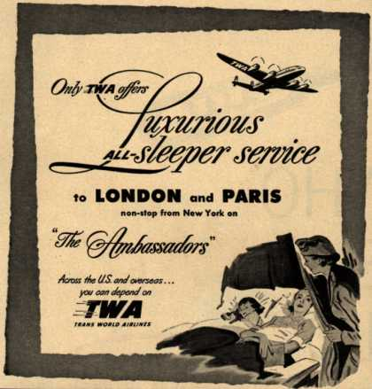 Trans World Airline's Sleeper Service – Only TWA offers Luxurious All-sleeper service (1951)