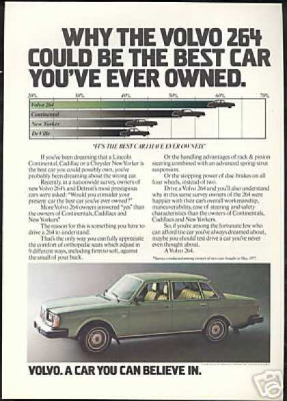 Volvo 264 Green 4 Dr Photo Best Car Vintage (1978)