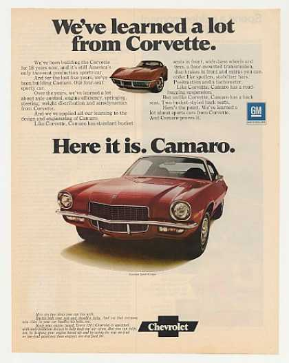 Chevy Camaro Sport Coupe Learned Lot Corvette (1971)