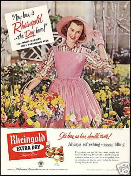 Hillie Merritt Miss Rheingold Beer Pink Dress (1956)