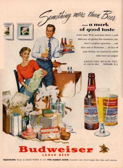 Budweiser Beer Ad House Warming Wedding Gifts (1951)