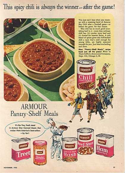Armour's Pantry-Shelf Meals (1953)