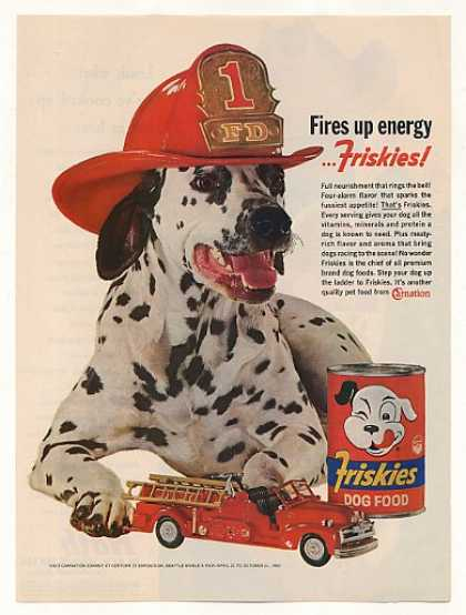 Dalmatian Fire Dog Firetruck Friskies Photo (1962)