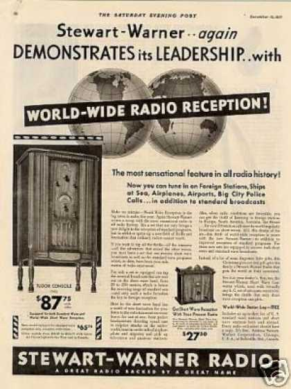 Stewart-warner Radio Ad Tudor Console (1931)