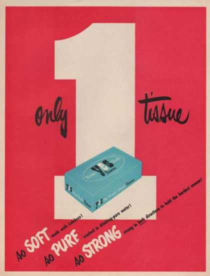 Yes Only One Tissue Soft Pure Strong Print (1949)