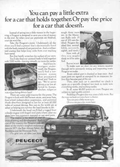 Peugeot Car – A different kind of luxury car (1976)