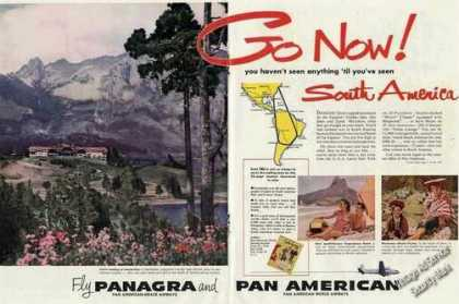 Bariloche Argentina Photo Panagra/pan Am Travel (1950)