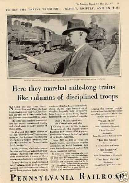 "Pennsylvania Railroad Ad ""Here They Marshal... (1927)"