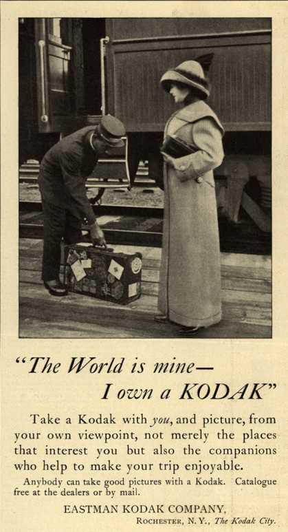 "Kodak – ""The World is mine – - I own a Kodak"" (1912)"