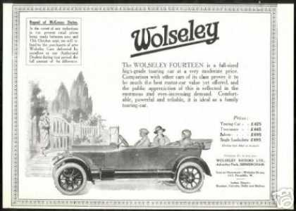 Wolseley Motors Fourteen Touring Car UK (1924)