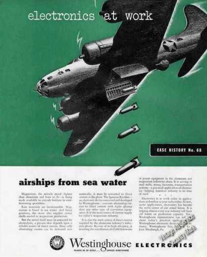 """Airships From Sea Water"" Wwii Westinghouse (1943)"