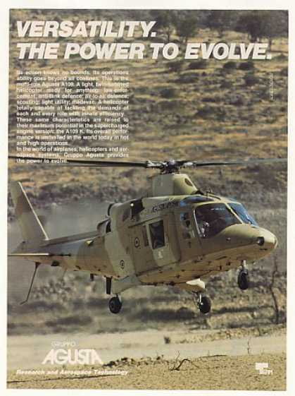Agusta A109 Military Helicopter Photo (1989)