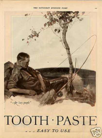 Listerine Tooth Paste Color Ad 2 Page (1926)