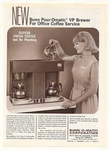 Bunn Pour-Omatic VP Coffee Brewer (1968)
