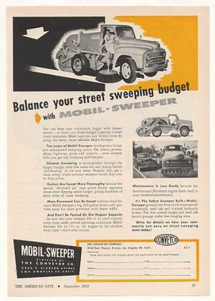 Conveyor Co Mobil-Sweeper Street Sweeper (1952)