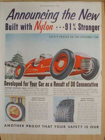 Announcing the new Firestone 500 Modern Tubeless Construction 2 Page (1952)