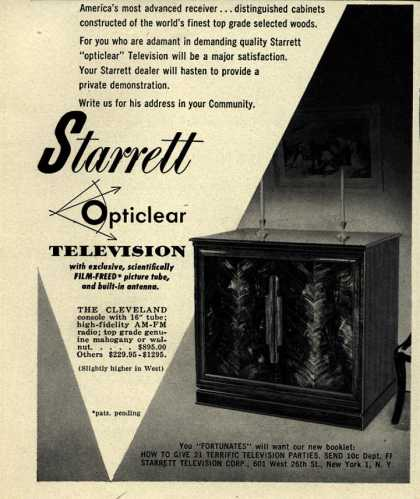 Starrett Television Corporation's Opticlear Television – Starrett Opticlear Television (1950)