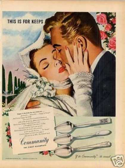 Community Plate Ad Whitcomb Art (1946)