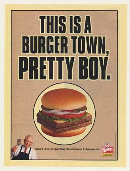 Wendy's Double Hamburger Burger Town Pretty Boy (1999)