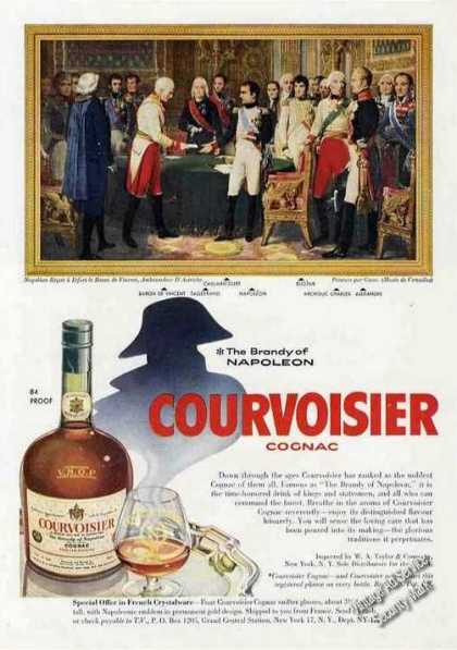 "Courvoisier Cognac ""The Brandy of Napoleon"" (1957)"